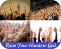 hands raised to God