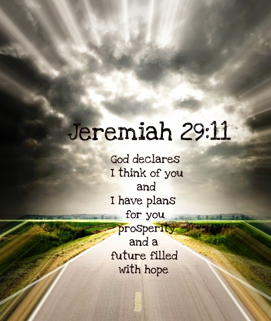"Jeremiah 29:11 For I know the plans I have for you,"" declares the ..."