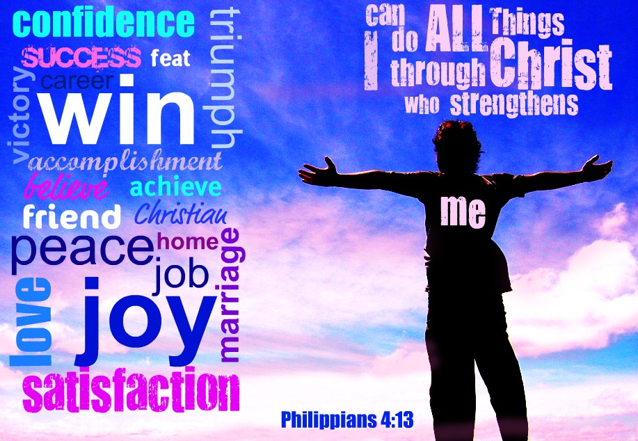 Inspirational Bible Verses Philippians 413 Christ Strengthens
