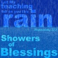 showers of blessing fall on you like rain