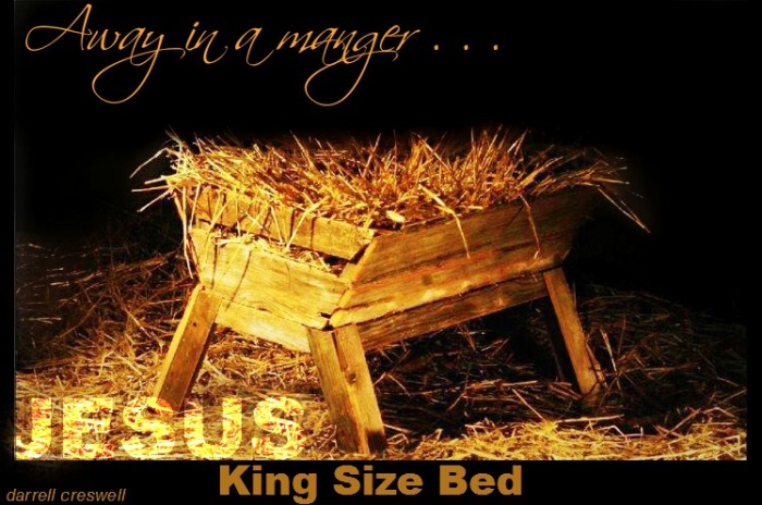 Away in a manger King size bed Jesus
