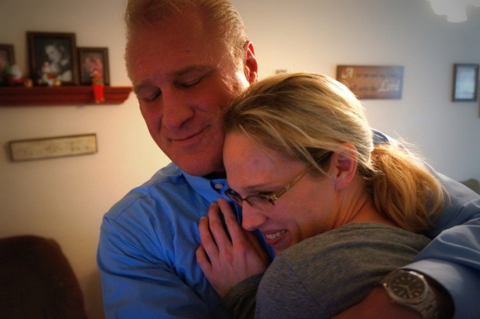 Holding my daughter Sharice... She will always be Daddy's little girl