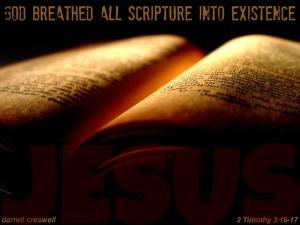God breathed scripture Bible Jesus 2 Timothy 3