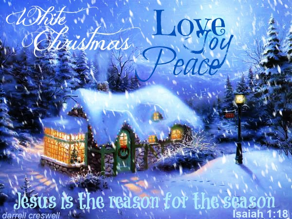 Isaiah 1 18 White Christmas Jesus is the reason for the season Merry Christmas