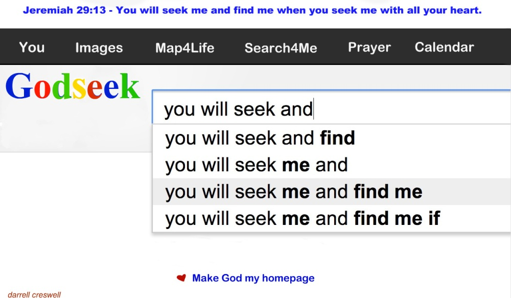 Jeremiah 29 11 13 seek me with all your heart