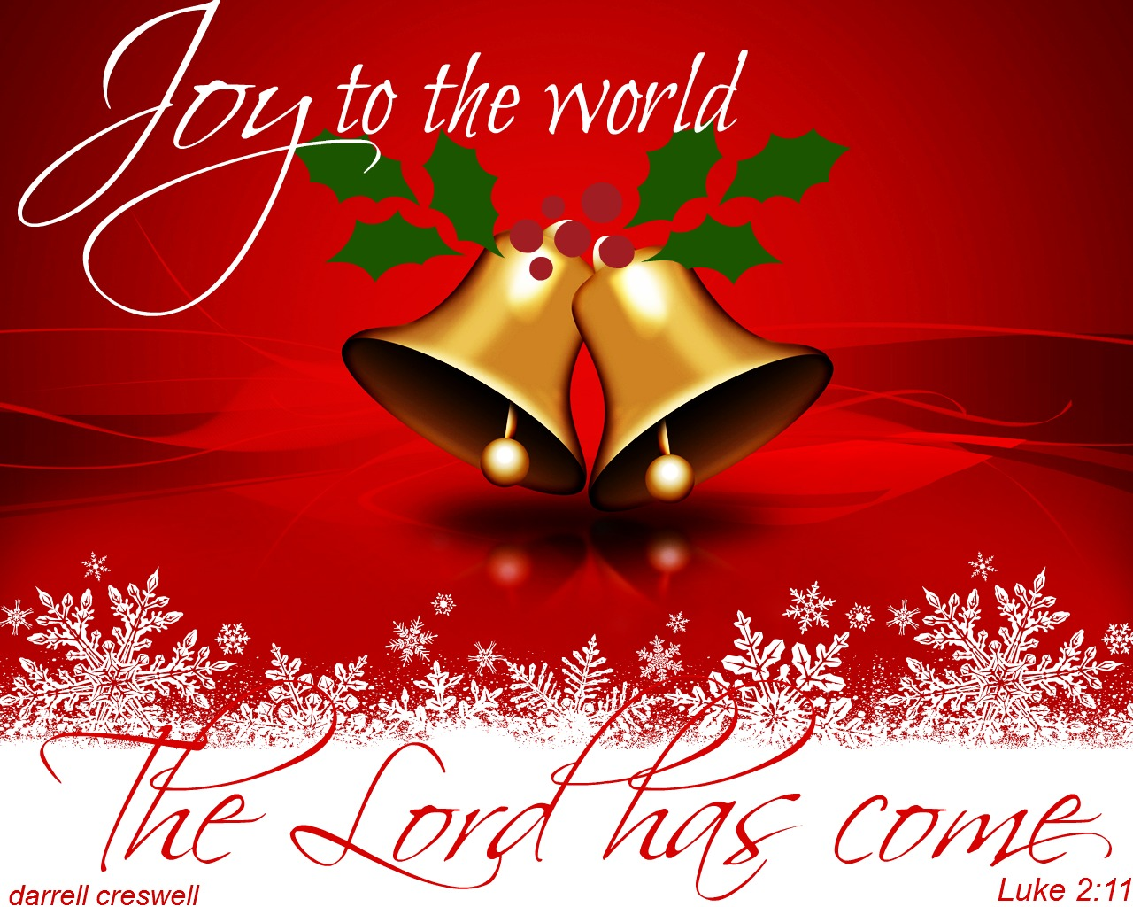 Joy To The World The Lord Has Come Luke 2 11