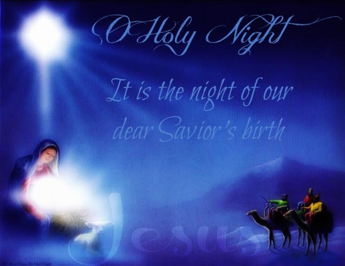 o holy night night of saviors birth Jesus