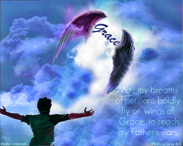 Grace wings praise Philippians 4:6