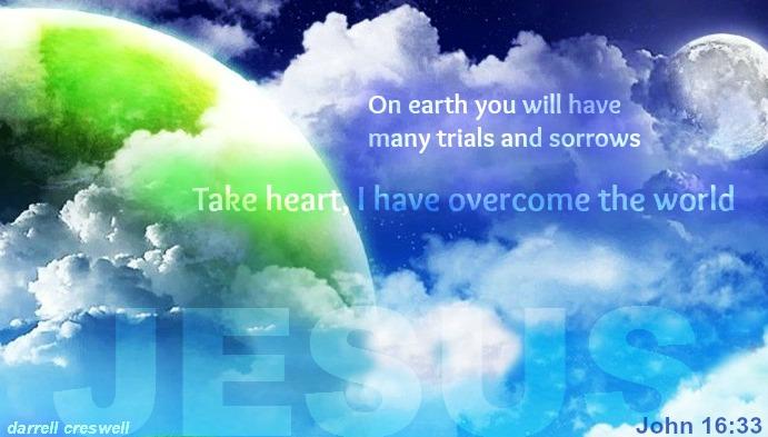 John 16:33 I have overcome the world Jesus