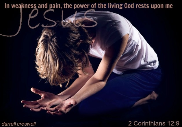 2 corinthians 12:9 in weakness there is Jesus