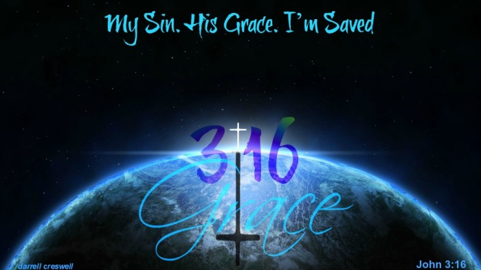 grace world my im saved john 3 16