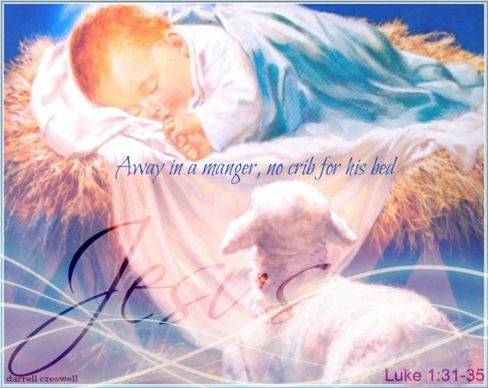 Away in a manger luke 1 31 35 Jesus
