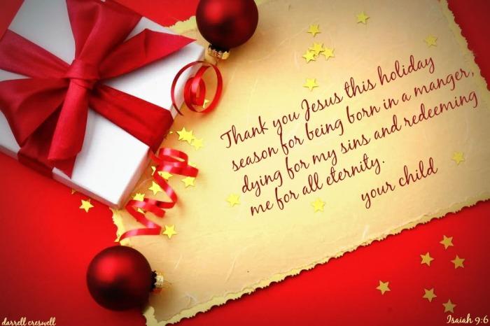 Christmas card to Jesus Isaiah 9 6
