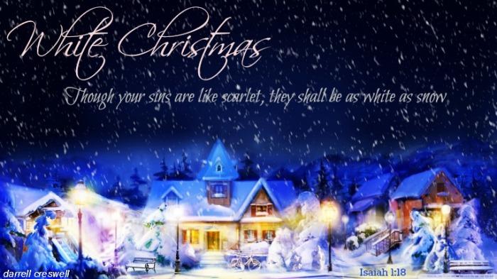 Isaiah 1 18 White Christmas