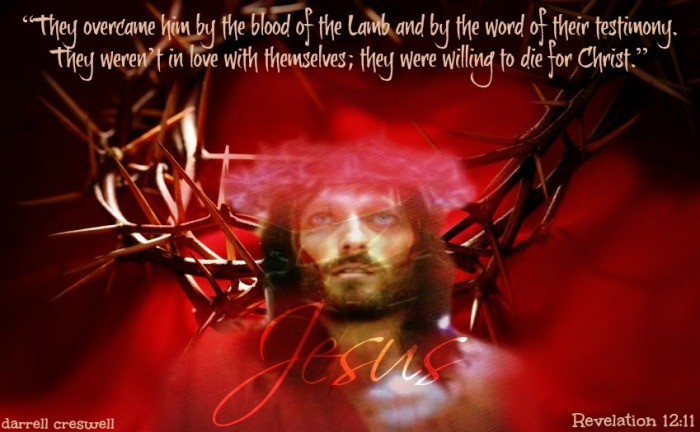 Revelation 12 11 Blood of the Lamb word of their testimony