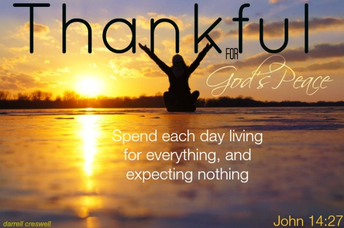 thankful God's peace John